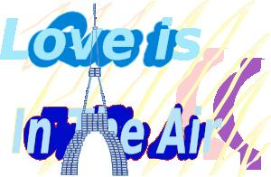 free vector E Card Love Is In The Air La Tour Eiffel Tower Aug clip art