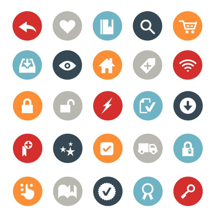 free vector E-commerce and online shopping icons