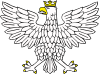 free vector Eagle Wearing Crown clip art