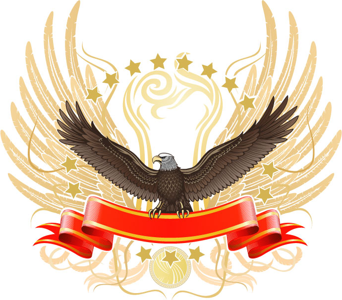 free vector Eagles theme vector