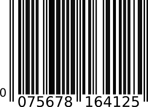 free vector Ean-13 Bar Code clip art