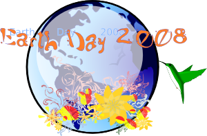 free vector Earth Day 2008 clip art