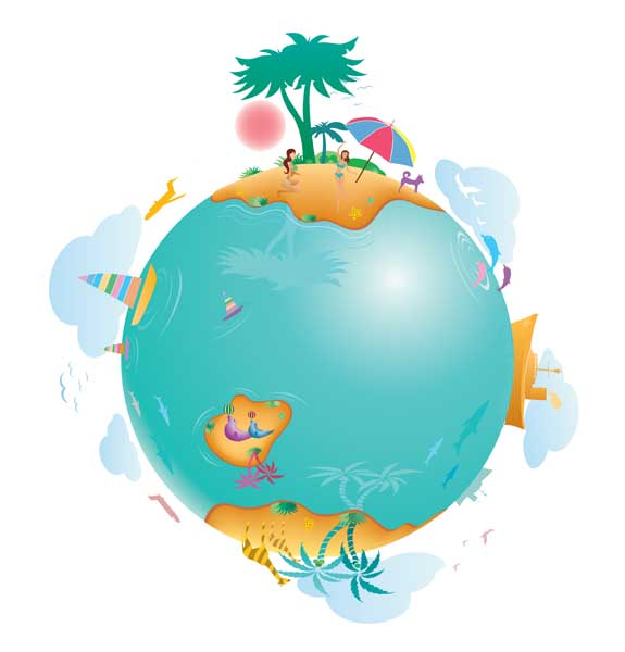 free vector Earth leisure vector illustration material