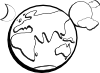 free vector Earth Moon Sun Outline clip art