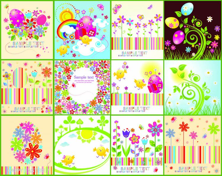 free vector Easter cartoon elements 04 vector