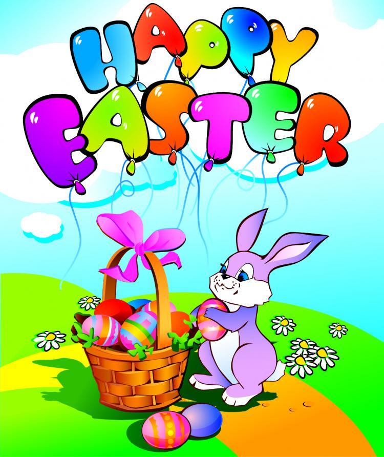 free vector Easter cartoon elements 05 vector