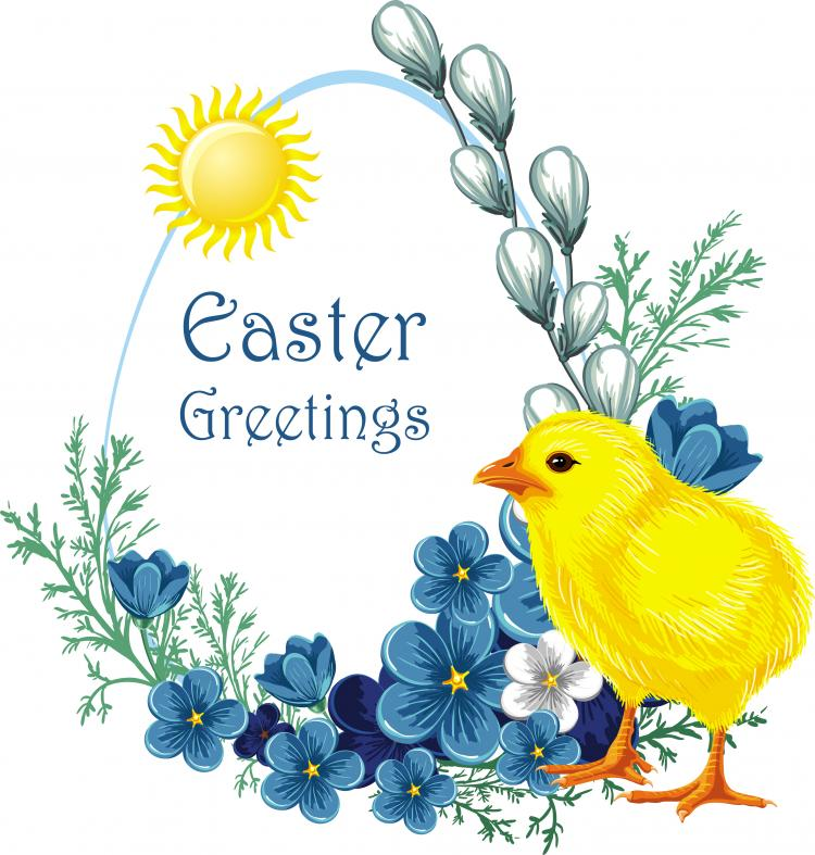 free vector Easter chicks vector 3