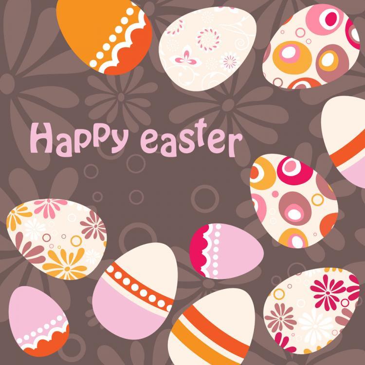 free vector Easter egg background illustrator 01 vector