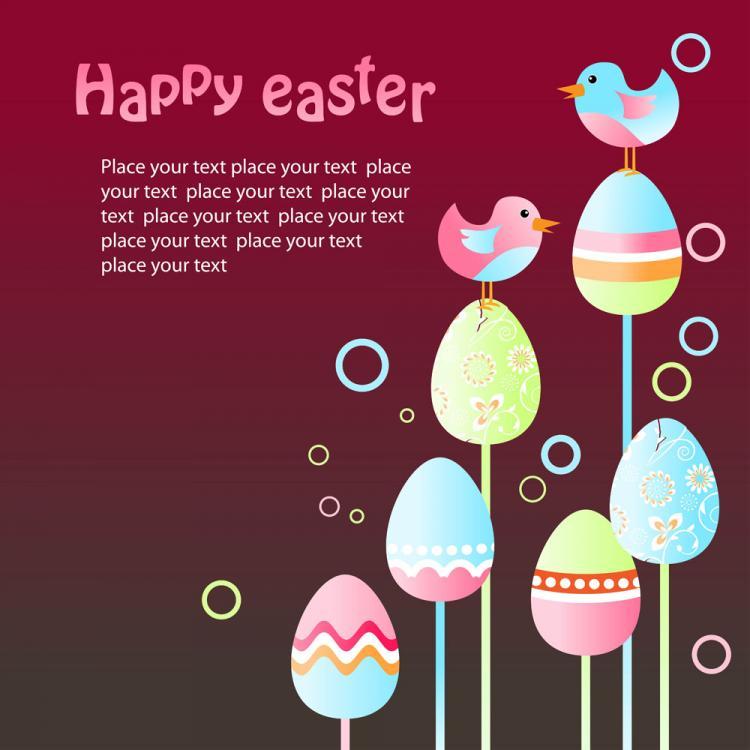 free vector Easter egg illustration background 05 vector