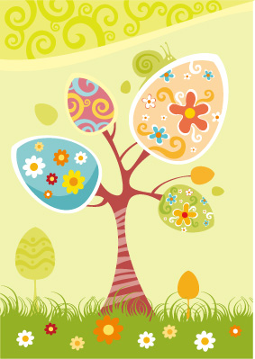 free vector Easter egg series vector