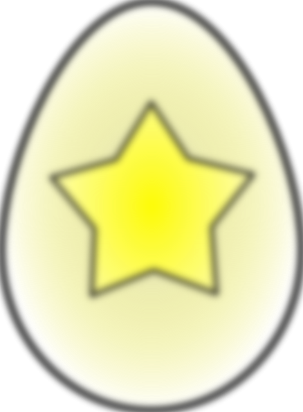 free vector Easter Egg Star clip art