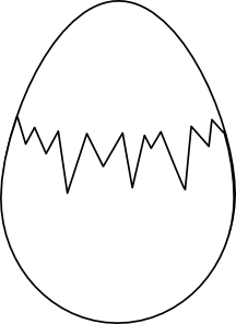 free vector Easter Egg White With Fracture clip art