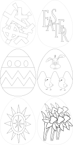 free vector Easter Eggs clip art
