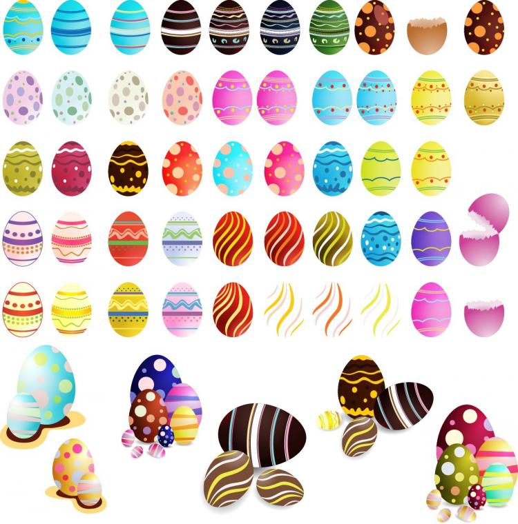 free vector Easter Eggs Vector Set