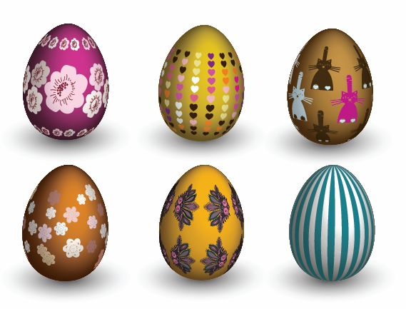free vector Easter Eggs Vector