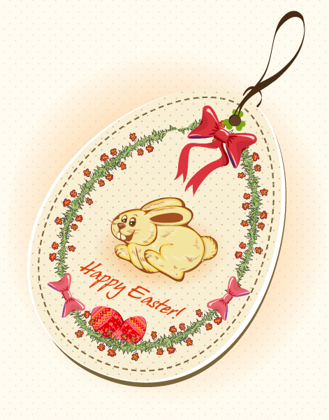 free vector Easter Shopping Tag Vector Illustration
