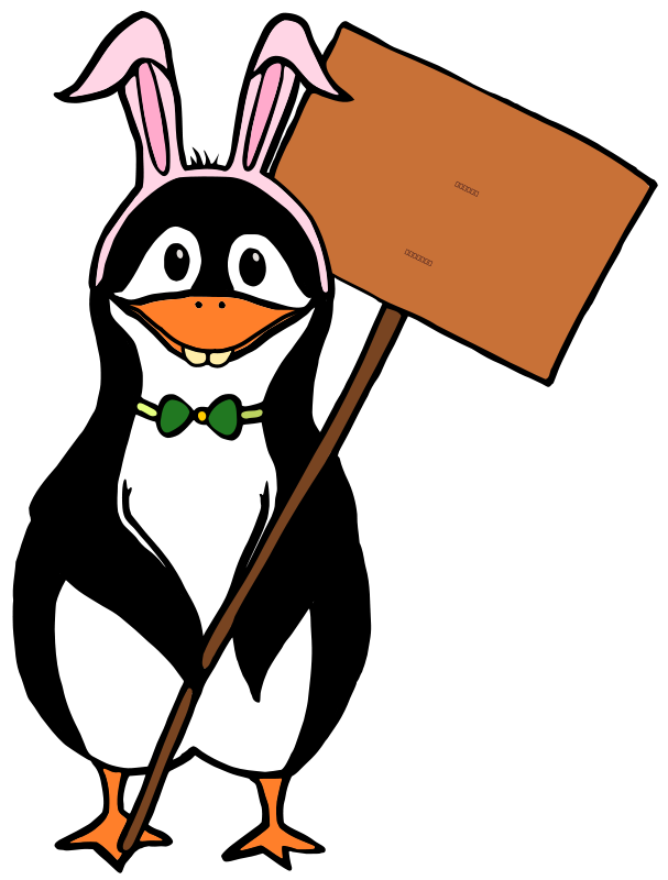 free vector Easter Tux