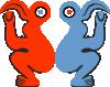 free vector Eastern Island Bird Man clip art