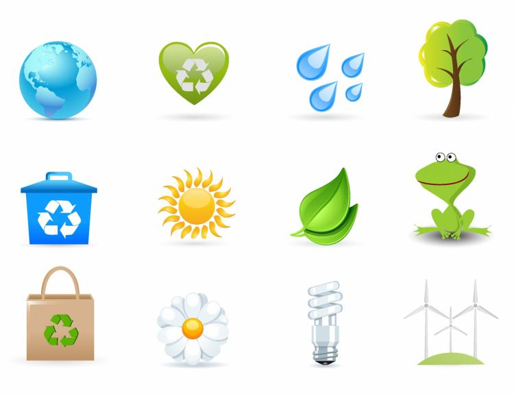 free vector Eco friendly icons