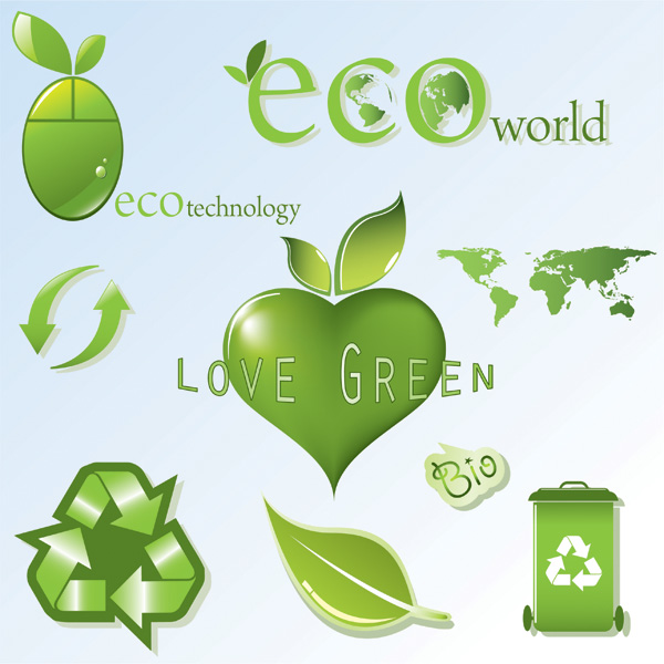 free vector Eco theme icon vector