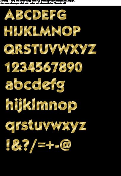 free vector Effect Letters Alphabet Gold clip art