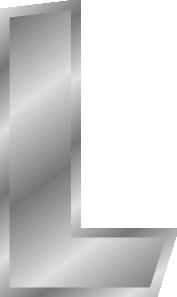 free vector Effect Letters Alphabet L Silver clip art