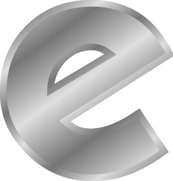 Effect Letters Alphabet Silver Clip Art (104628) Free SVG ...