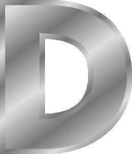 Effect Letters Alphabet Silver clip art Free Vector / 4Vector