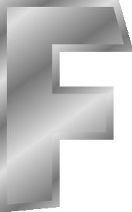 free vector Effect Letters Alphabet Silver F clip art