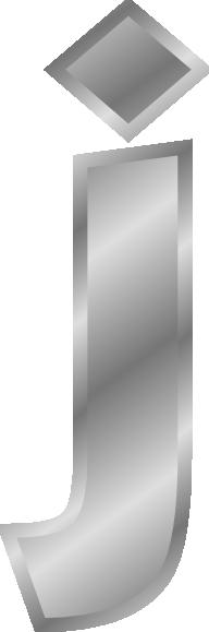 free vector Effect Letters Alphabet Silver J clip art