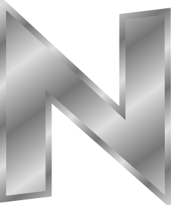 free vector Effect Letters Alphabet Silver N clip art