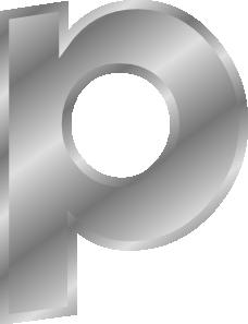 free vector Effect Letters Alphabet Silver P clip art