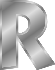 free vector Effect Letters Alphabet Silver R clip art