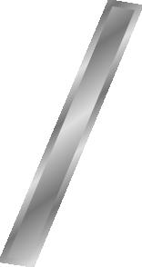 free vector Effect Letters Alphabet Silver Slash clip art