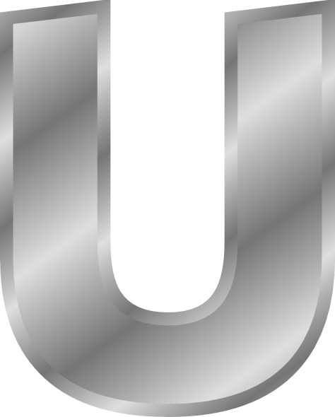 Silver Effect Letters Alphabet: Effect Letters Alphabet Silver U Clip Art Free Vector
