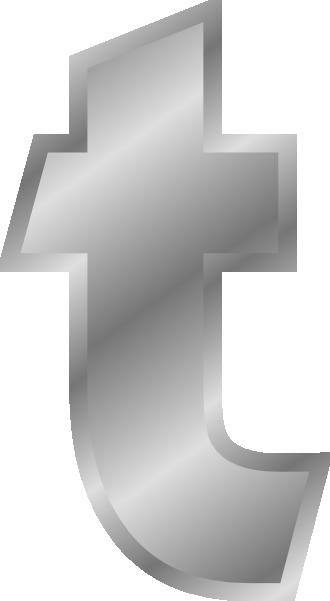 free vector Effect Letters Alphabet T Silver clip art
