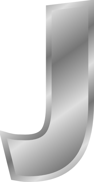 free vector Effect Letters J Alphabet Silver clip art