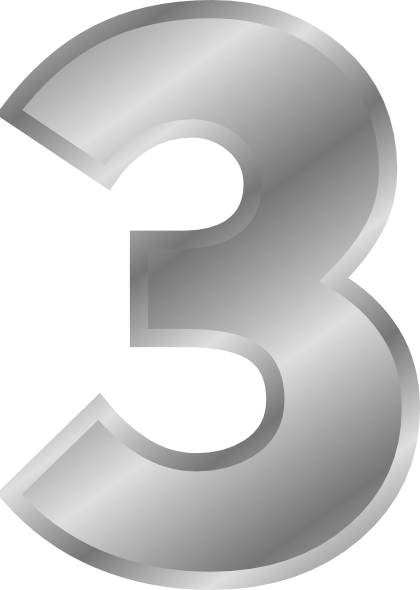 Effect Letters Number 3 Silver Clip Art Free Vector    4vector