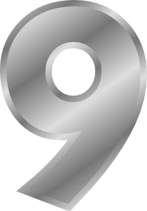free vector Effect Number 9 Silver clip art