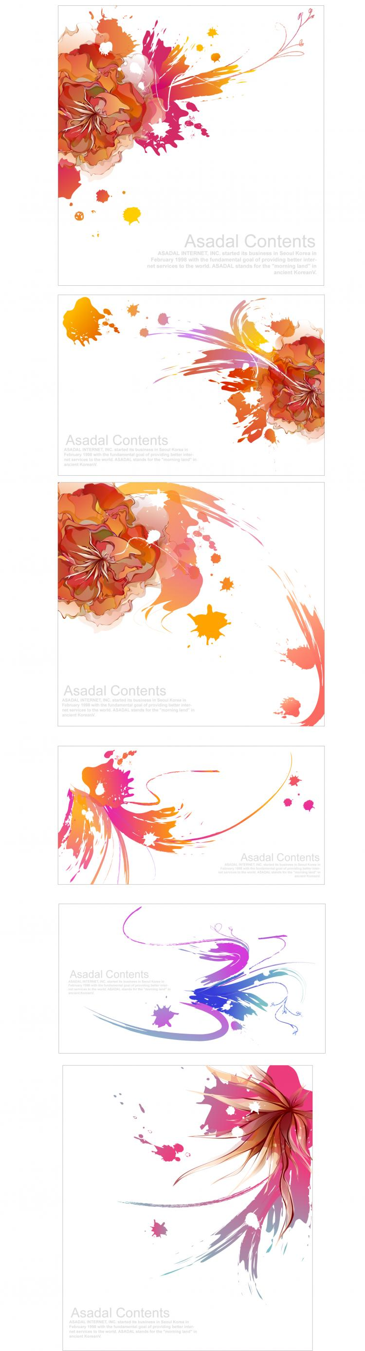 free vector Effect of colorful ink vector