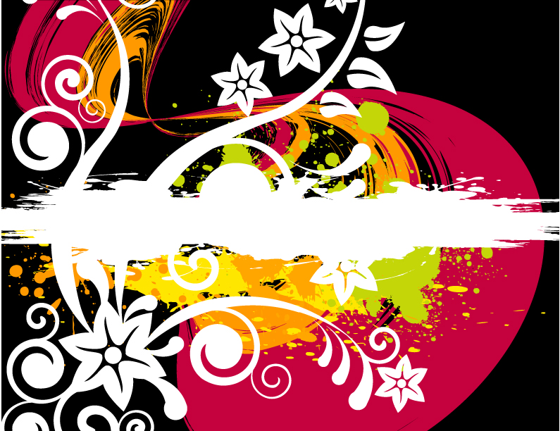 free vector Effect of the trend pattern vector and inkjet