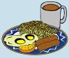 free vector Eggs Sausage Drink Coffee clip art