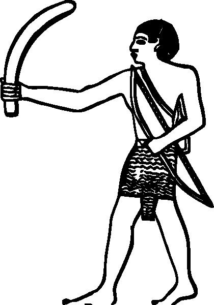 free vector Egyptian Boomerang clip art