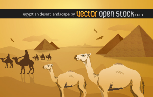 free vector Egyptian desert landscape