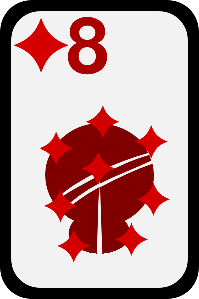 free vector Eight Of Diamonds clip art