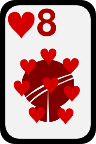 free vector Eight Of Hearts clip art