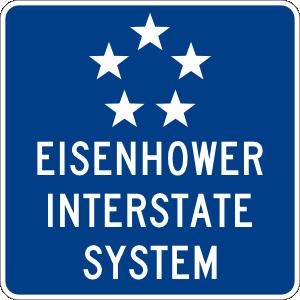 free vector Eisenhower Interstate System clip art