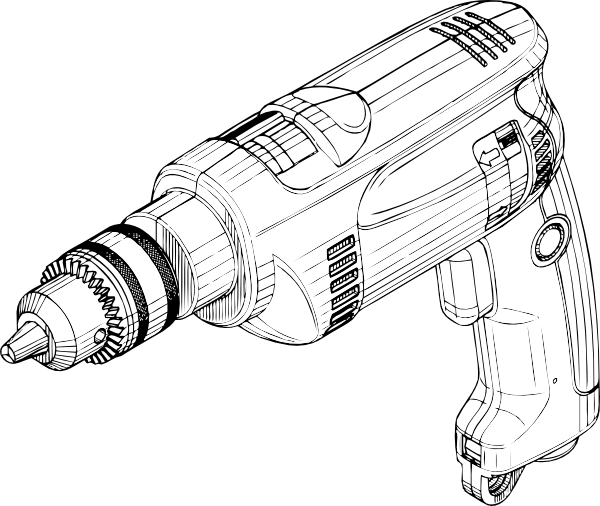 Hand Drill Drawing Electric Drill Clipart