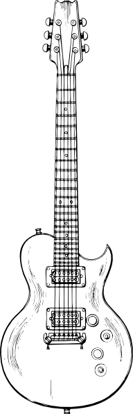 free vector Electric Guitar clip art