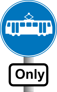 free vector Electric Metro Bus Road Sign Station clip art